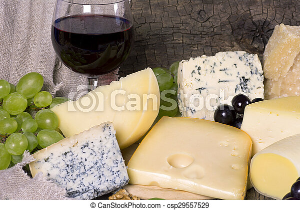 Assortment of cheese  - csp29557529