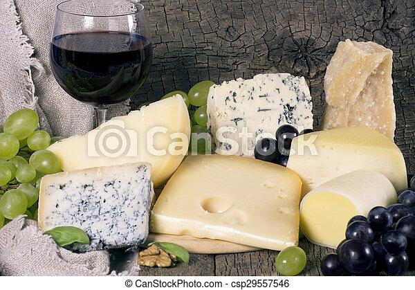 Assortment of cheese - csp29557546