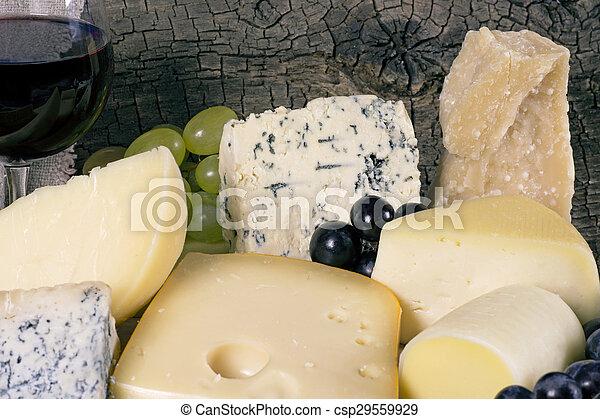 Assortment of cheese - csp29559929