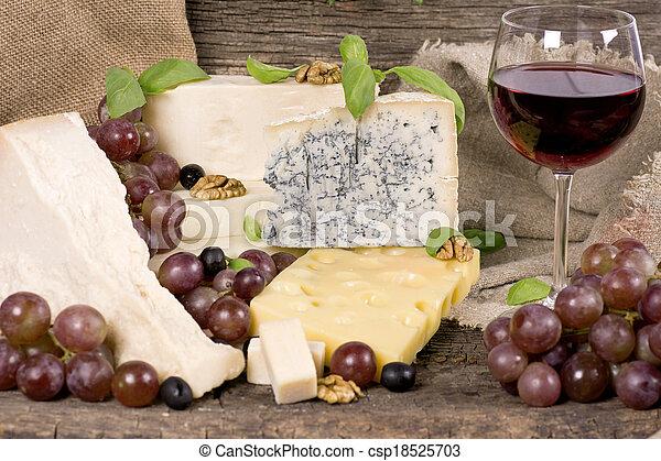Assortment of cheese - csp18525703