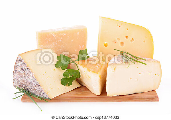 assortment of cheese - csp18774033