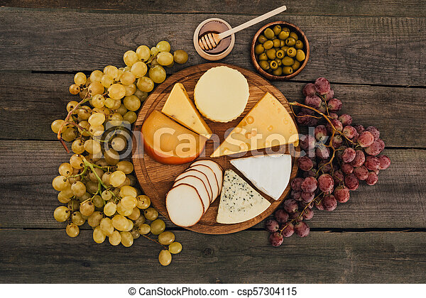assortment of cheese types - csp57304115