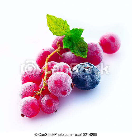 Assortment of chilled berries - csp10214288
