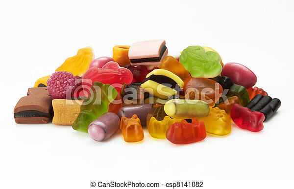 assortment of colorful candy - csp8141082