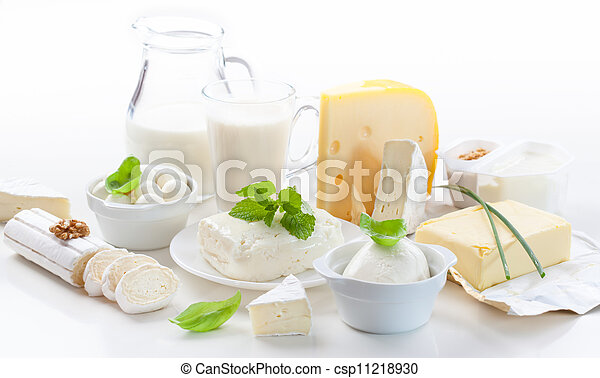 Assortment of dairy products - csp11218930