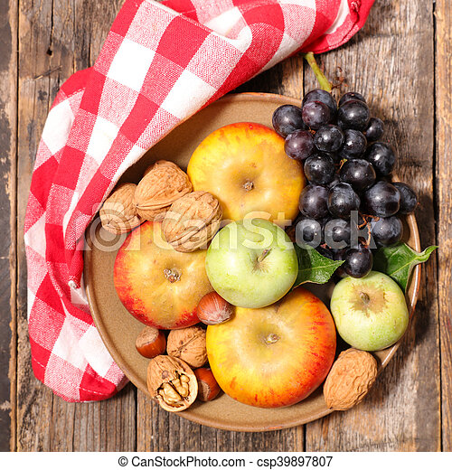 assortment of fresh fruit - csp39897807