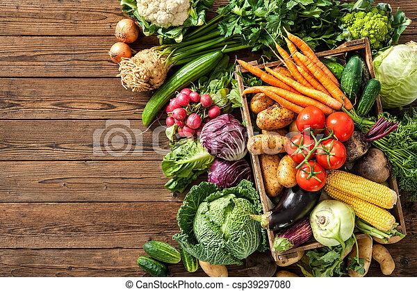 Assortment of  fresh vegetables - csp39297080