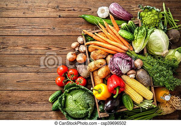 Assortment of  fresh vegetables - csp39696502