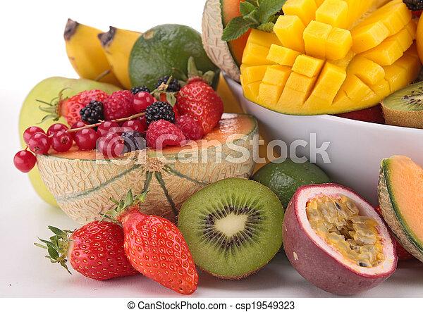 assortment of fruits - csp19549323
