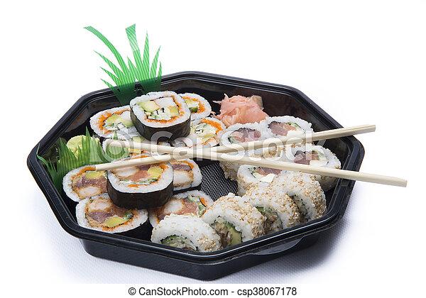 assortment sushi - csp38067178