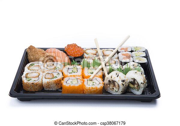 assortment sushi - csp38067179