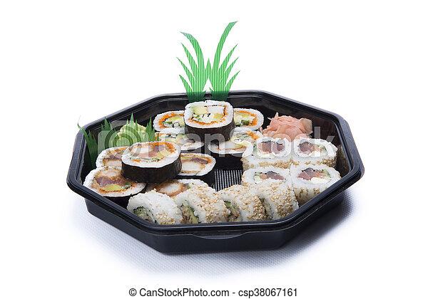 assortment sushi - csp38067161