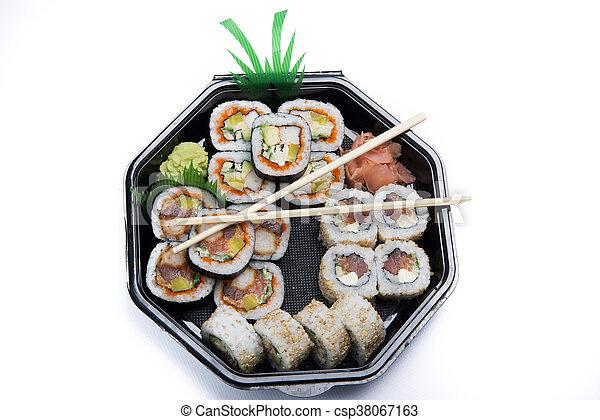 assortment sushi - csp38067163