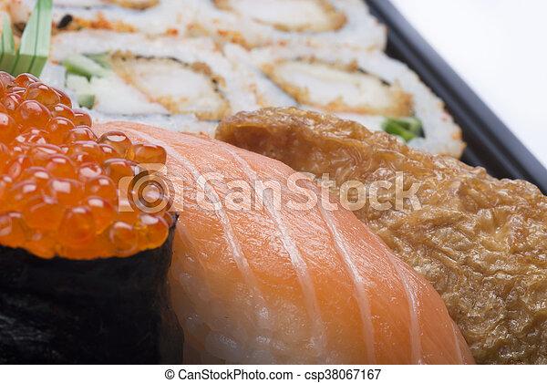 assortment sushi - csp38067167