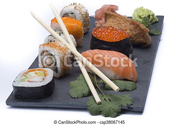 assortment sushi - csp38067145
