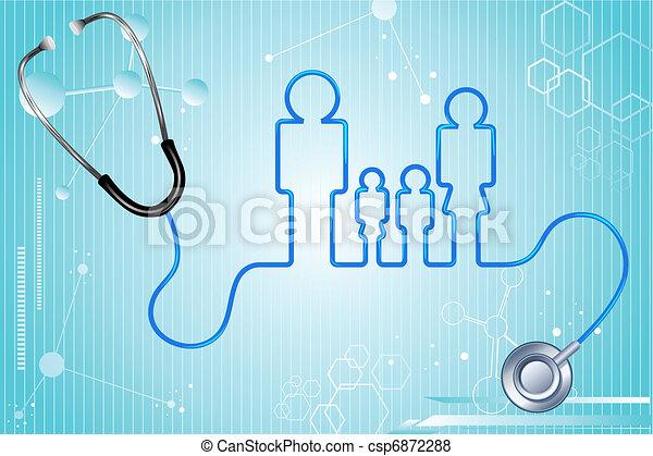 assurance maladie, famille - csp6872288