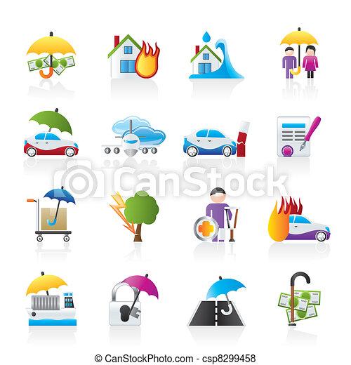 assurance, risque, icônes - csp8299458