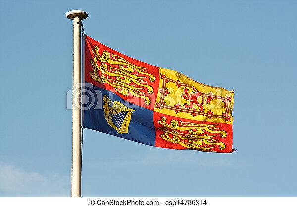 Bandera real británica en el mástil - csp14786314