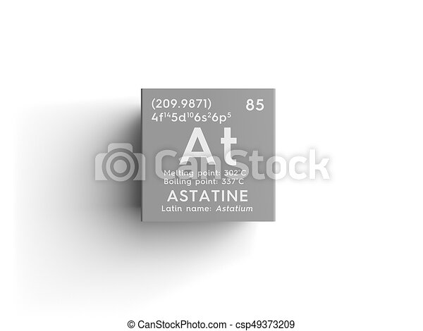 Astatine astatium halogens chemical element of mendeleevs astatine astatium halogens chemical element of mendeleevs periodic table astatine in square cube creative concept urtaz Image collections
