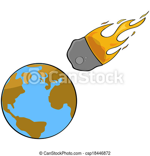 asteroid collision cartoon illustration showing a speeding rh canstockphoto com asteroid clipart black and white asteroid clipart black and white