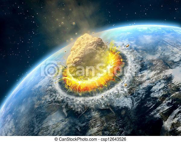 Asteroid impact - csp12643526
