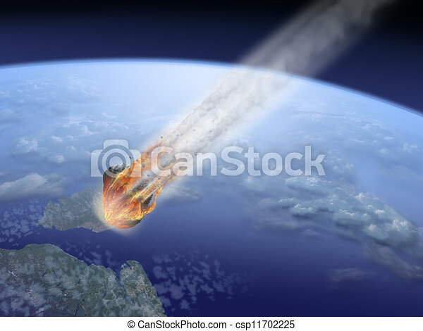 asteroid impact on Earth - csp11702225