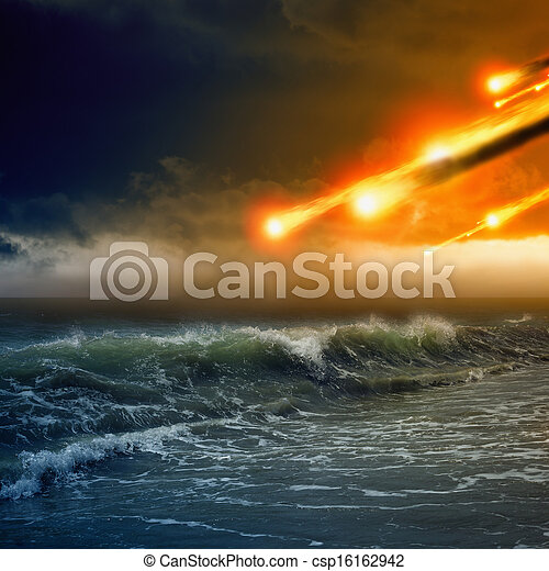 Asteroid impact - csp16162942