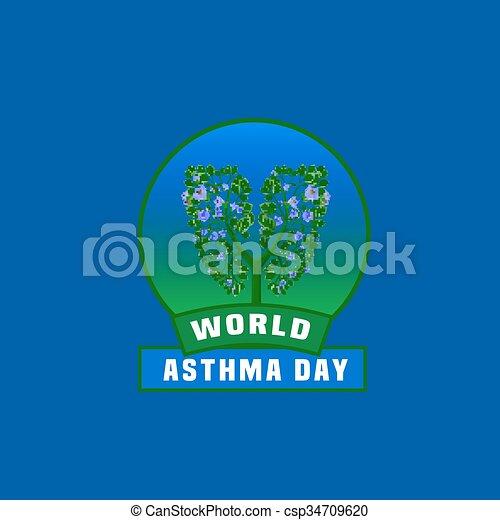 Asthma Day Logo - csp34709620