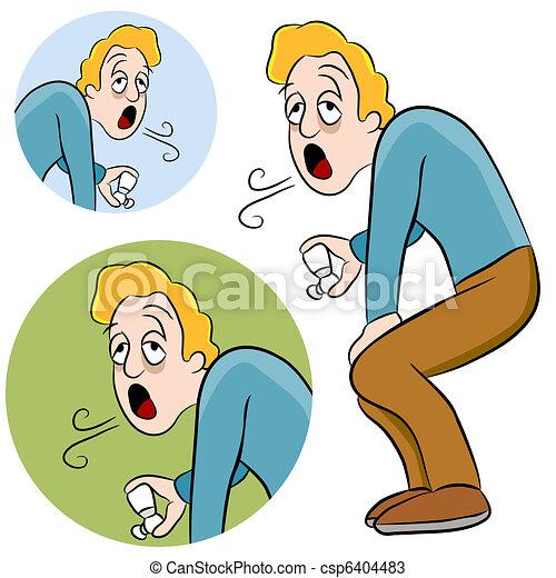 Asthma Man - csp6404483