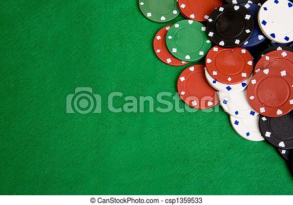 Fondo de fichas de casino - csp1359533