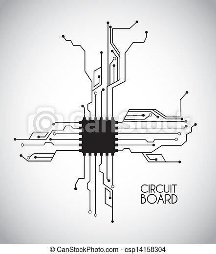 Chip y circuito - csp14158304