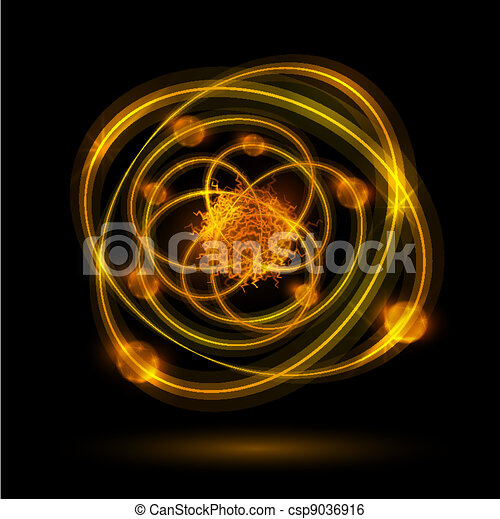 astratto, atomo - csp9036916