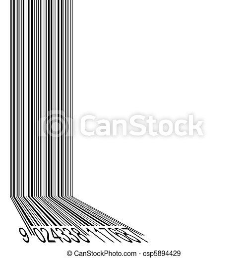 astratto, barcode, fondo - csp5894429