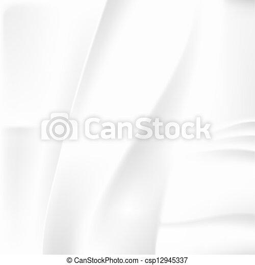 astratto, bianco, spiegazzato, fondo - csp12945337