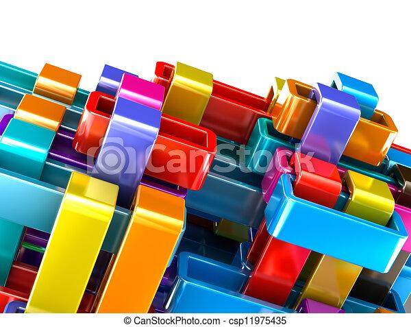 astratto, blocchi, colorito, fondo - csp11975435