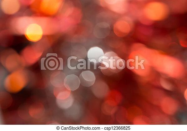 astratto, bokeh., fondo, arancia, vacanza, natale, rosso - csp12366825