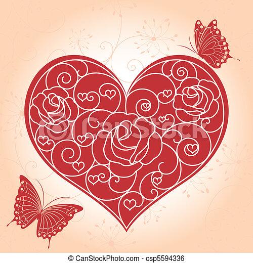 astratto, cartolina auguri, valentina - csp5594336
