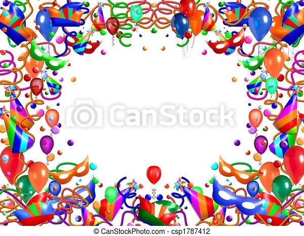 astratto, cornice, balloon - csp1787412