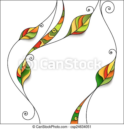 astratto, foglie, fondo - csp24634051