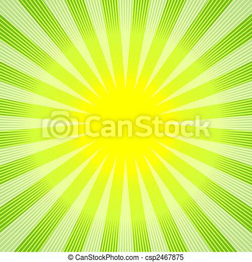 astratto, fondo, verde-giallo, (vector) - csp2467875