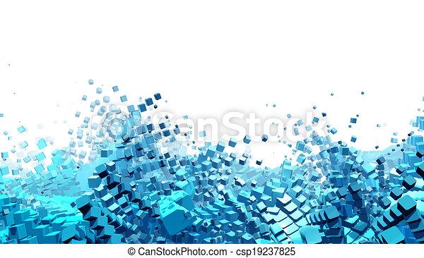 astratto, futuristico, fondo - csp19237825