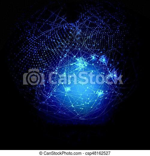 astratto, globale, tecnologia, fondo - csp48162527