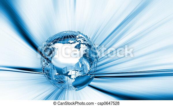 astratto, globo - csp0647528