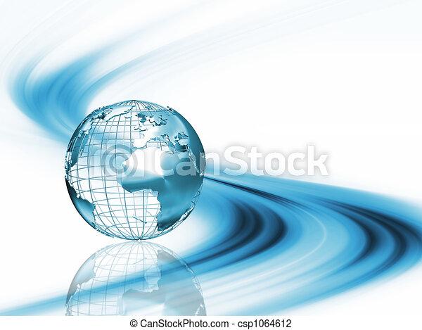 astratto, globo - csp1064612