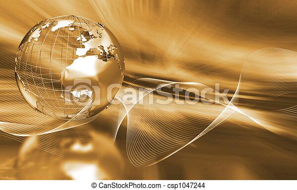 astratto, globo - csp1047244