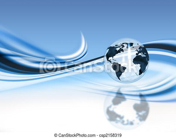 astratto, globo, fondo - csp2158319