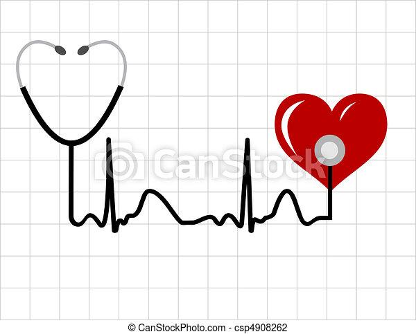 astratto, medico, fondo - csp4908262