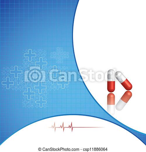 astratto, medico, fondo - csp11886064