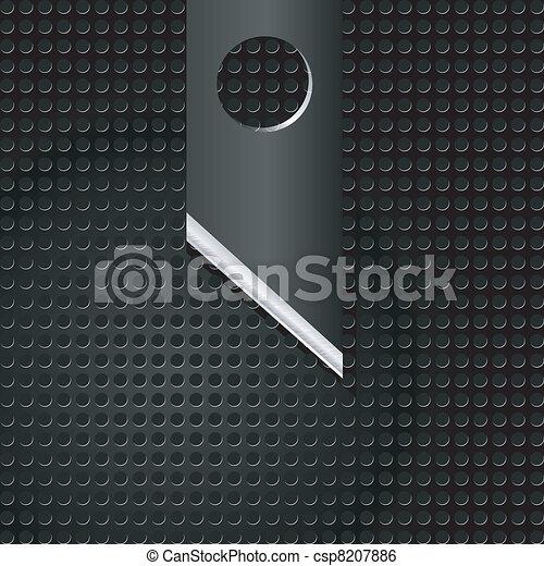astratto, metallo, illustrazione, vettore, fondo, coltello - csp8207886