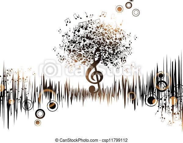astratto, musica, fondo - csp11799112